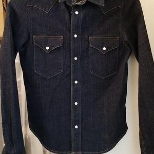 Dk blue denim shirt sz S